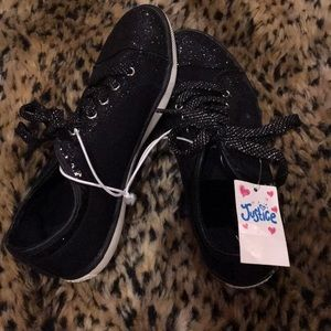 NWT Little Girls Justice Sequin Sneakers